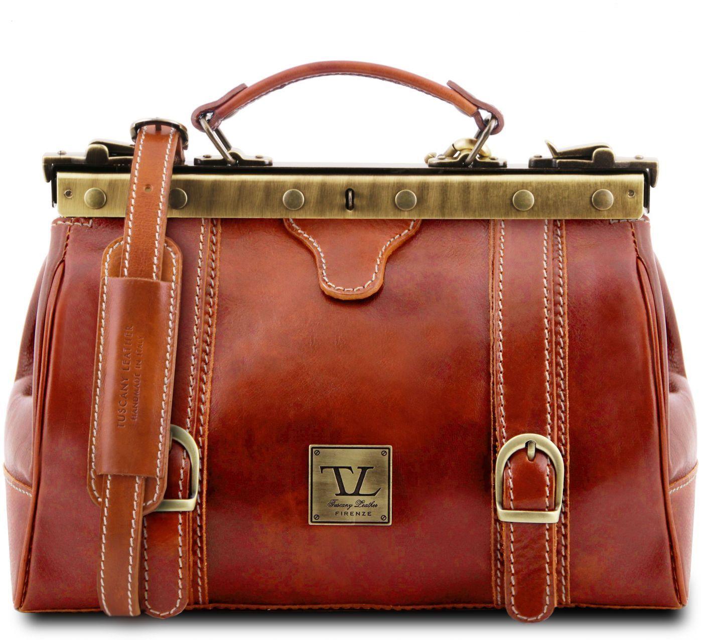 Ιατρική Τσάντα Δερμάτινη Mona Lisa Μελί Tuscany Leather
