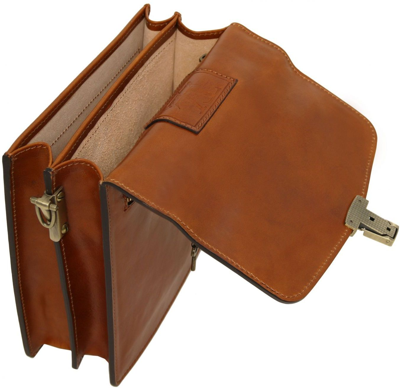 Ανδρικό Τσαντάκι Δερμάτινο David S Καφέ σκούρο Tuscany Leather ανδρας   τσαντάκια