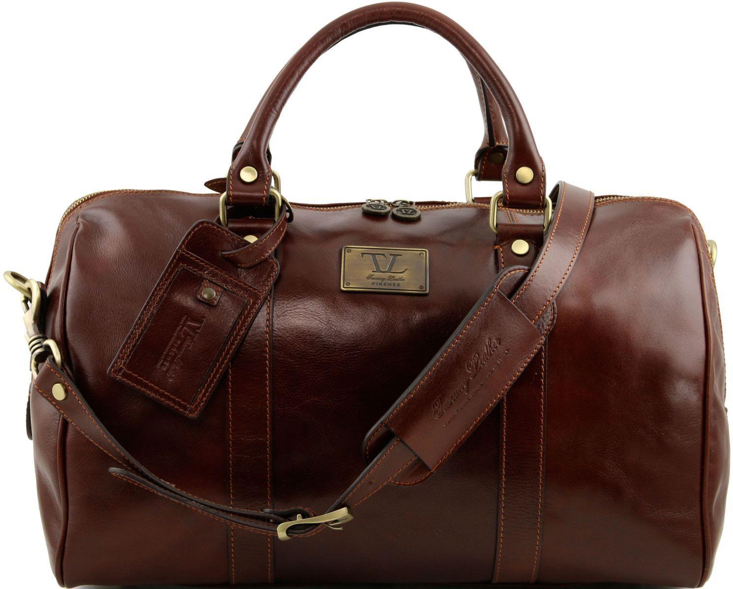 Σάκος Ταξιδίου Δερμάτινος TL Voyager TL141250 Καφέ Tuscany Leather