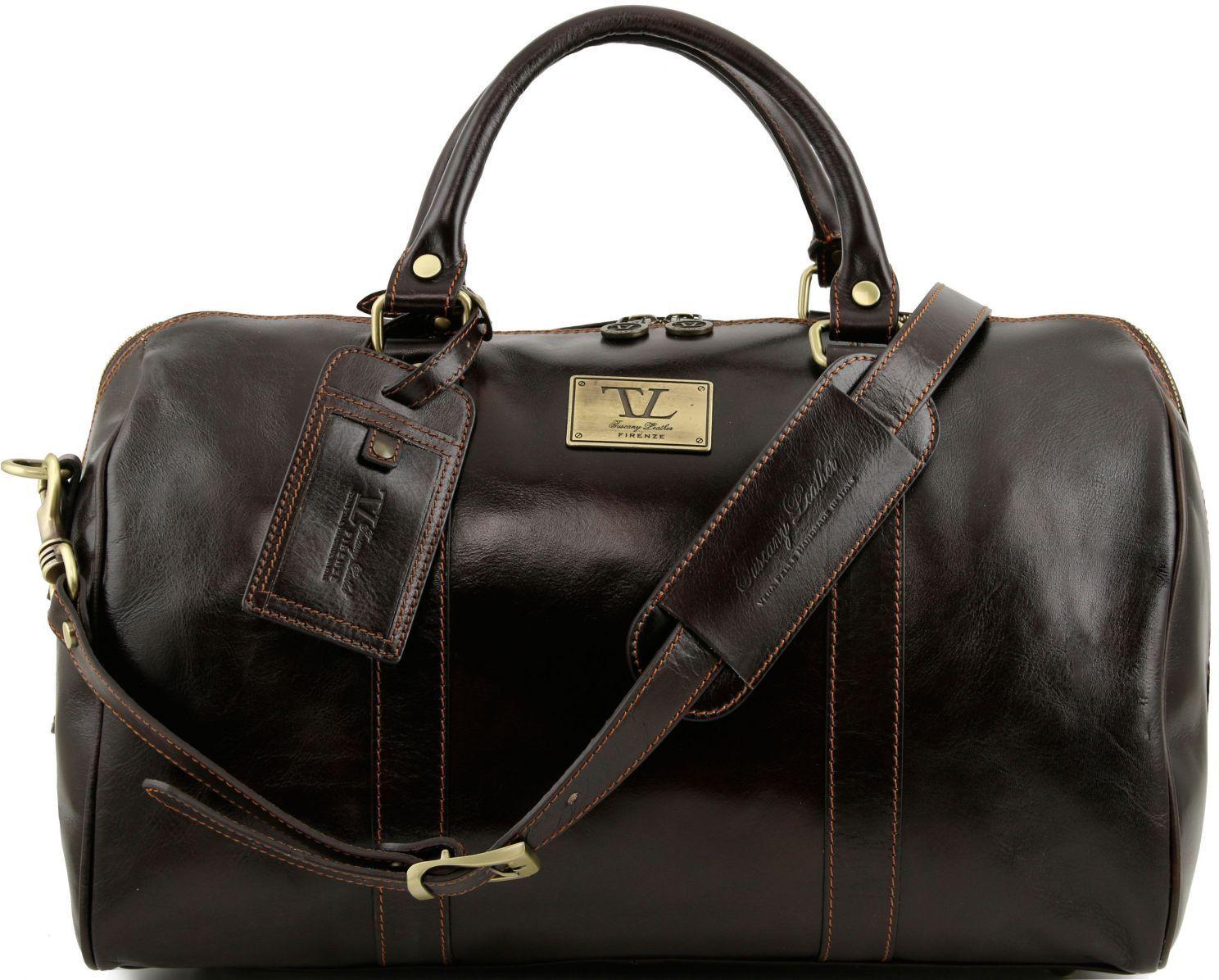Σάκος Ταξιδίου Δερμάτινος TL Voyager TL141250 Καφέ σκούρο Tuscany Leather