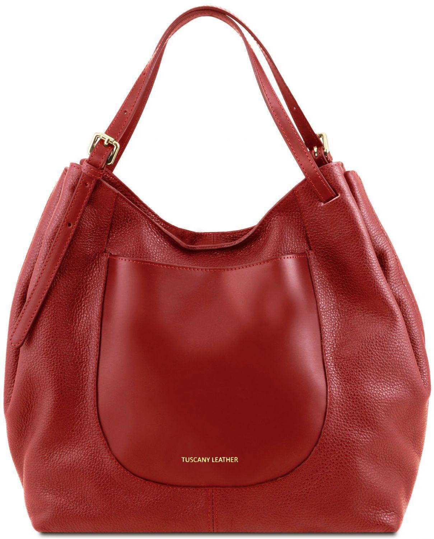 44aed375ad Γυναικεία Τσάντα Δερμάτινη Cinzia Κόκκινο Tuscany Leather