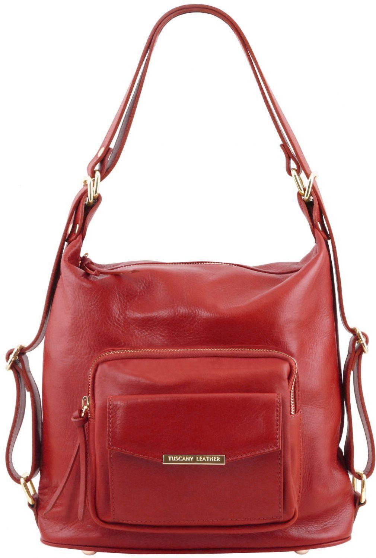 892e92cd63 Γυναικεία Τσάντα Δερμάτινη Ώμου   Πλάτης TL141535 Κόκκινο Tuscany Leather