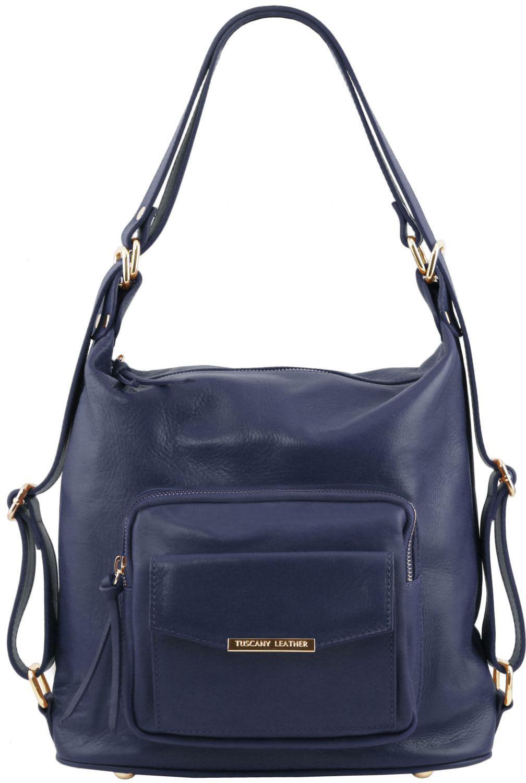 Γυναικεία Τσάντα Δερμάτινη Ώμου / Πλάτης TL141535 Μπλε σκούρο Tuscany Leather γυναίκα   τσάντες ώμου   χειρός