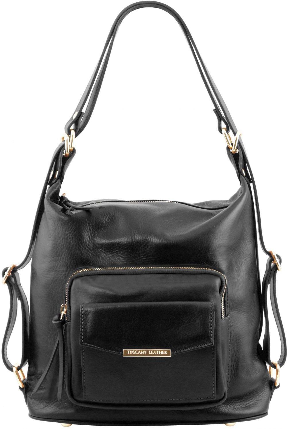 Γυναικεία Τσάντα Δερμάτινη Ώμου / Πλάτης TL141535 Μαύρο Tuscany Leather γυναίκα   τσάντες ώμου   χειρός