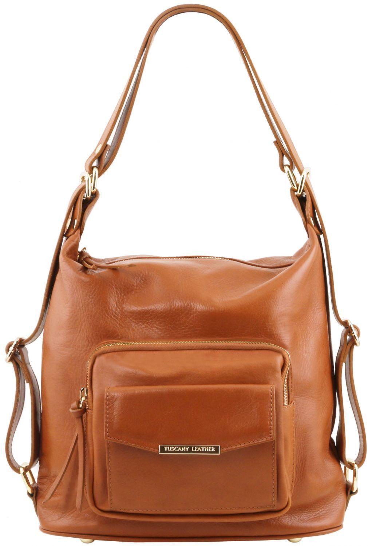 Γυναικεία Τσάντα Δερμάτινη Ώμου / Πλάτης TL141535 Κονιάκ Tuscany Leather γυναίκα   τσάντες ώμου   χειρός