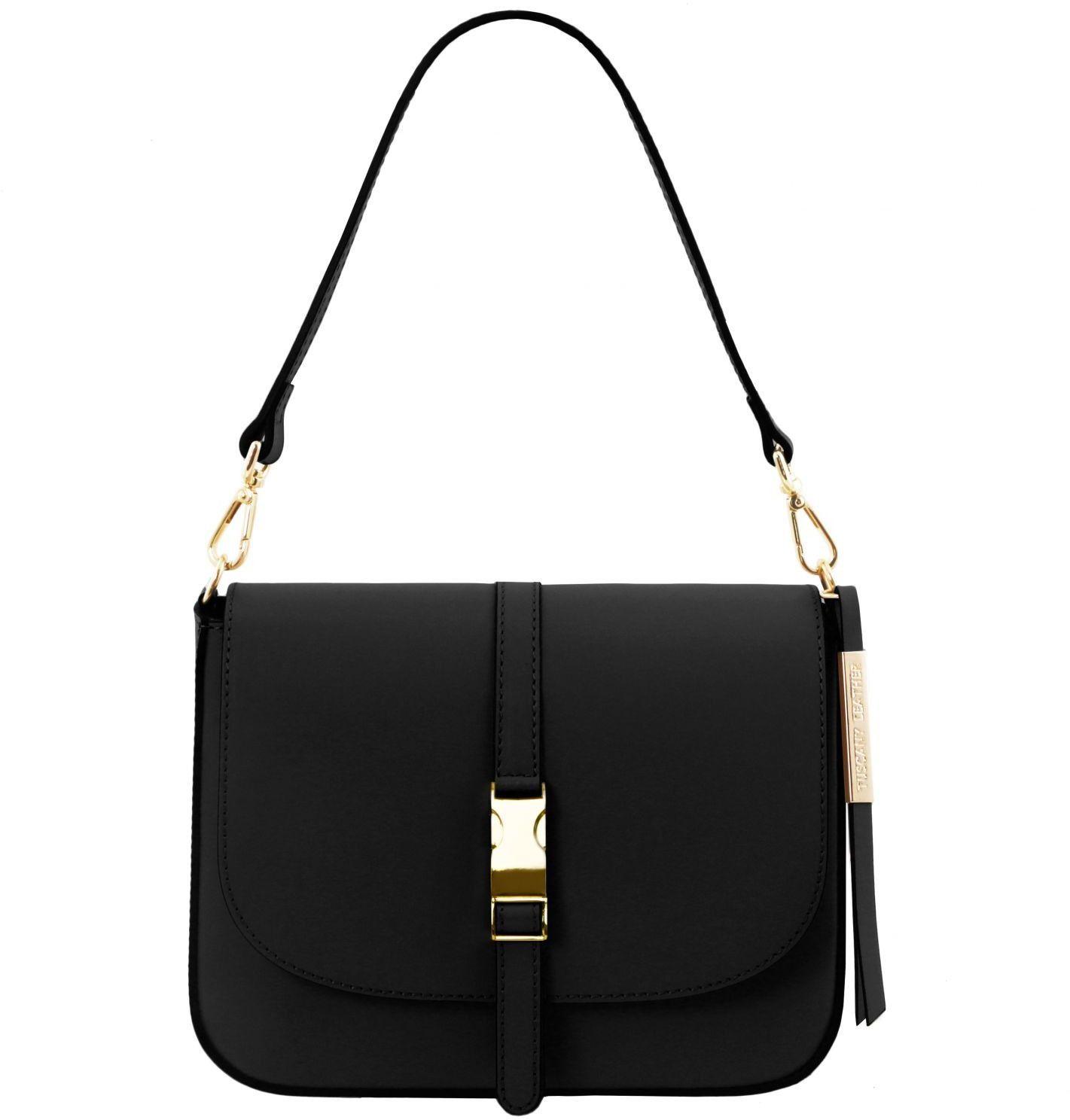 Γυναικεία τσάντα ώμου δερμάτινη Nausica Μαύρο Tuscany Leather γυναίκα   τσάντες ώμου   χειρός