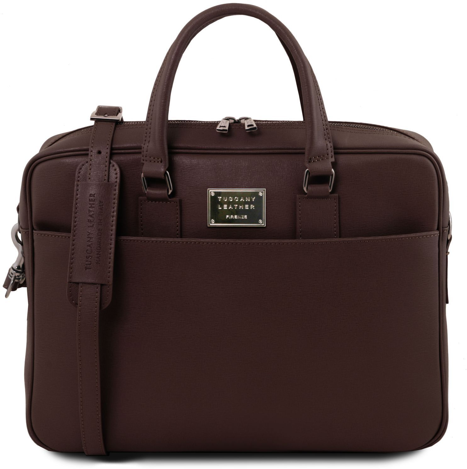 6277f17fbe Ανδρας    Χαρτοφύλακες    Τσάντα Laptop Δερμάτινη Urbino Καφέ σκούρο ...