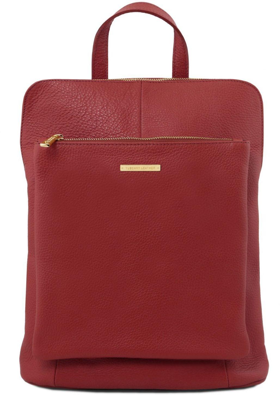 Γυναικεία Τσάντα Πλάτης - Ώμου Δερμάτινη TL141682 Κόκκινο Tuscany Leather γυναίκα   τσάντες πλάτης