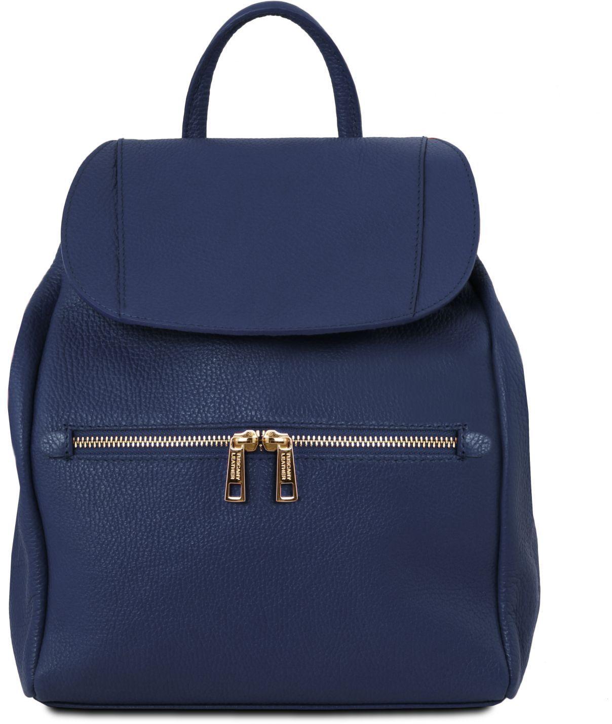 e3604bfaed Γυναικεία Τσάντα Πλάτης Δερμάτινη TL141697 Μπλε σκούρο Tuscany Leather ...