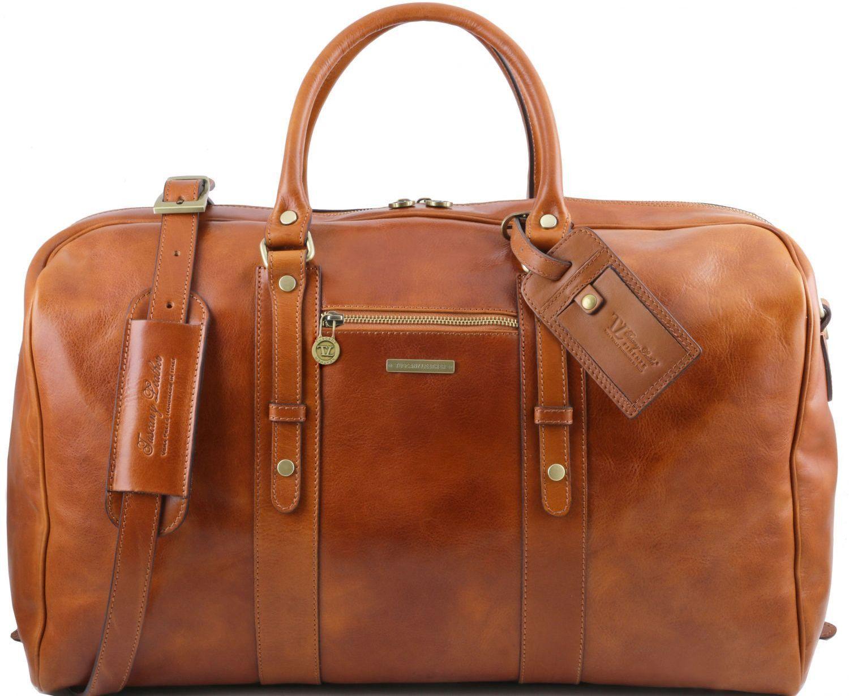 Σάκος ταξιδίου δερμάτινος TL Voyager – TL141401 Μελί Tuscany Leather