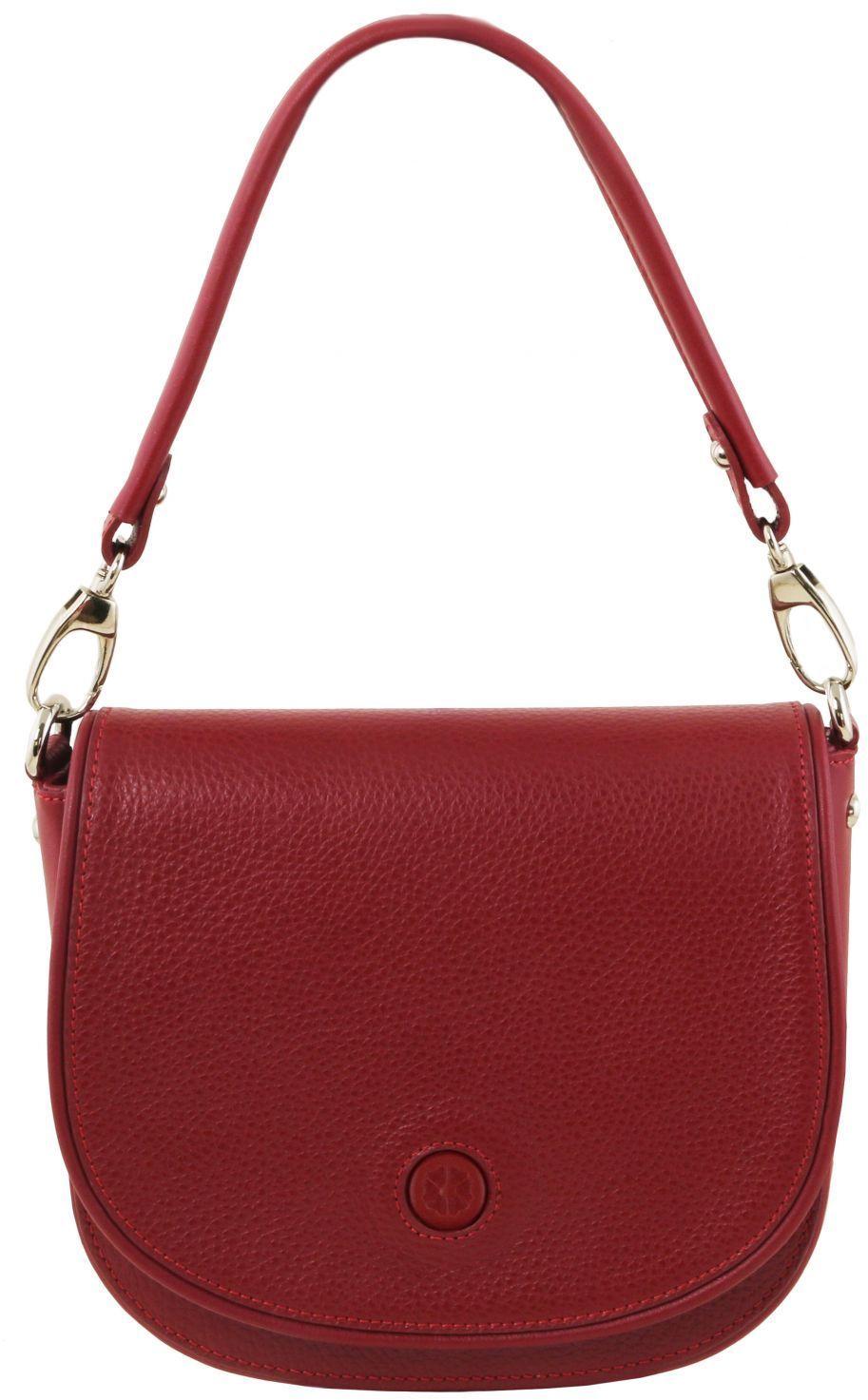 c531a758cd Γυναικεία Τσάντα Ώμου Δερμάτινη Rosa Κόκκινο Tuscany Leather