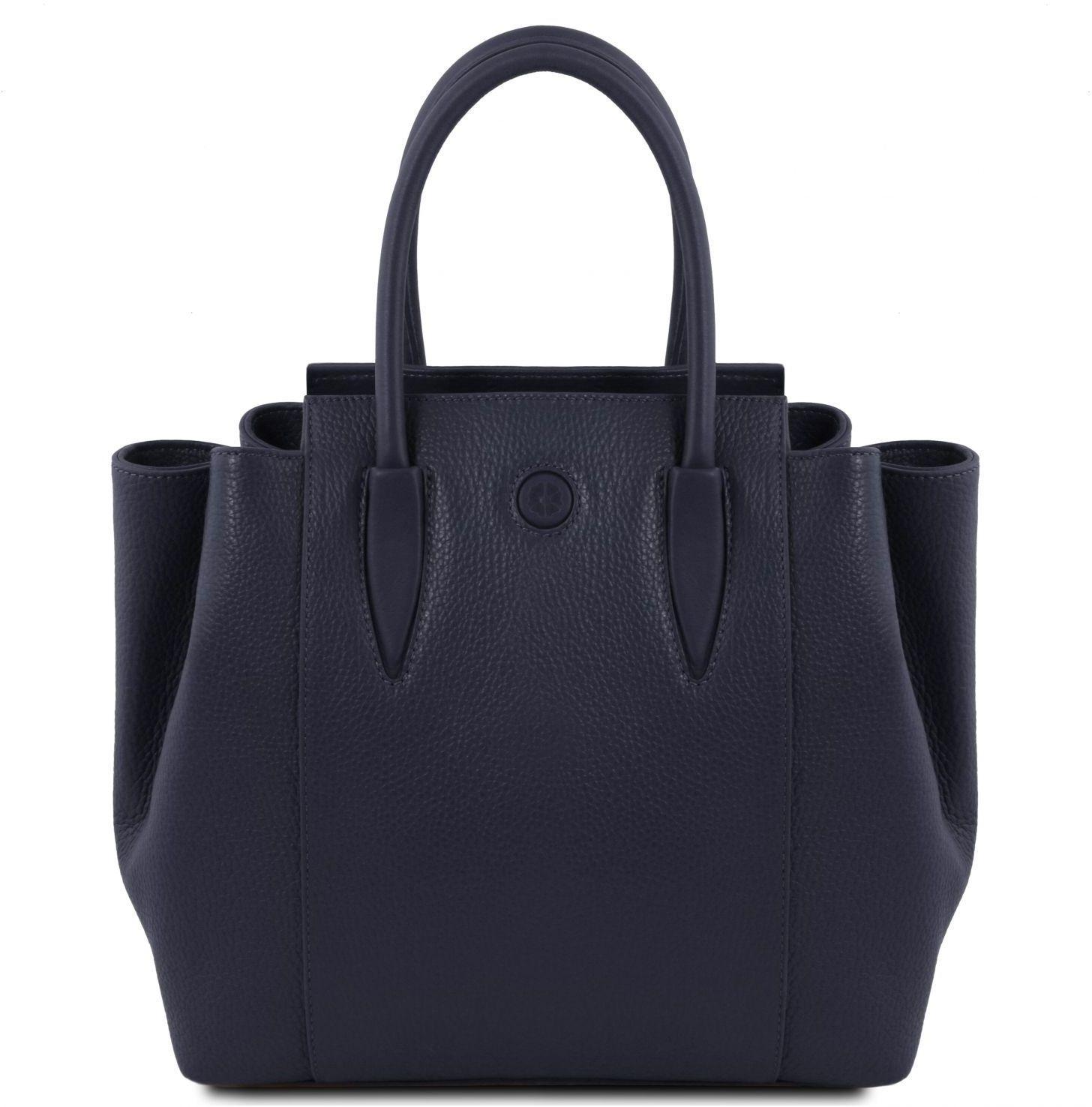 0df2dec6e8 Γυναικεία Τσάντα Δερμάτινη Tulipan Μπλε σκούρο Tuscany Leather