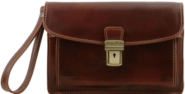 Ανδρικό Τσαντάκι Δερμάτινο Max Καφέ Tuscany Leather ανδρας   τσαντάκια