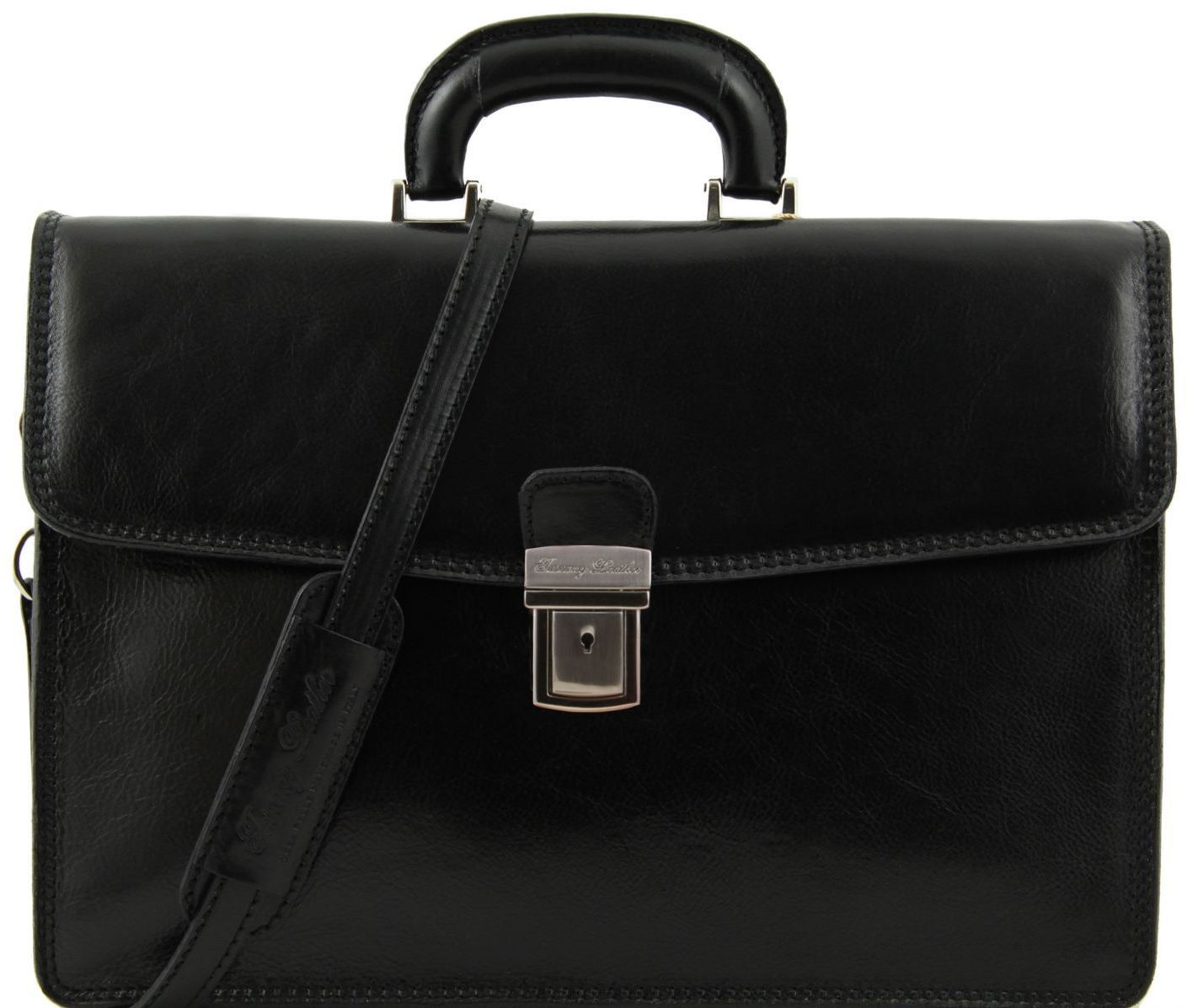 f1abc26caa Ανδρική Επαγγελματική Τσάντα Δερμάτινη Amalfi Μαύρο Tuscany Leather