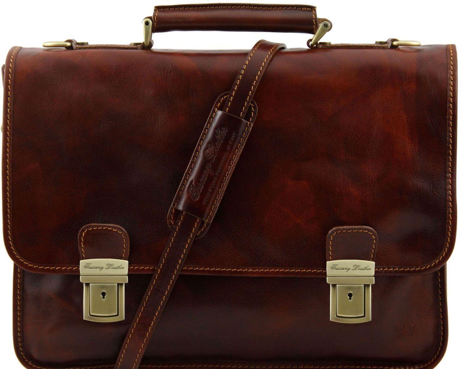 Ανδρική Τσάντα Δερμάτινη Firenze Καφέ Tuscany Leather ανδρας   χαρτοφύλακες