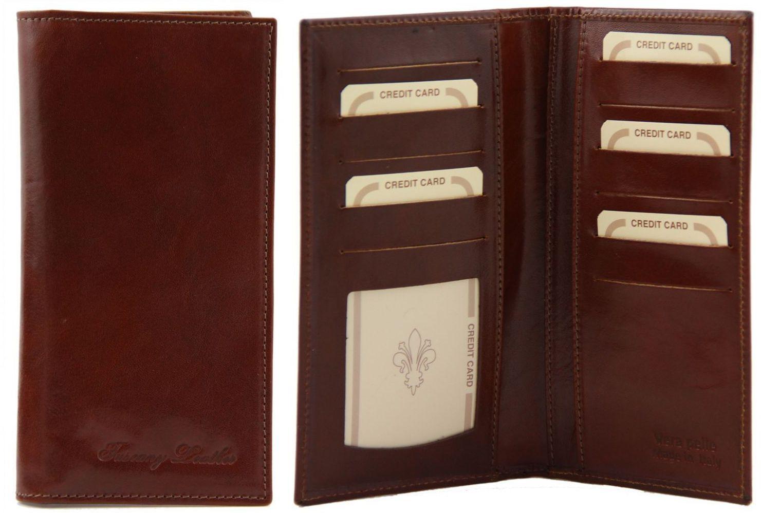 aee0cc2a4d Δερμάτινο Πορτοφόλι   Θήκη TL140784 Καφέ Tuscany Leather
