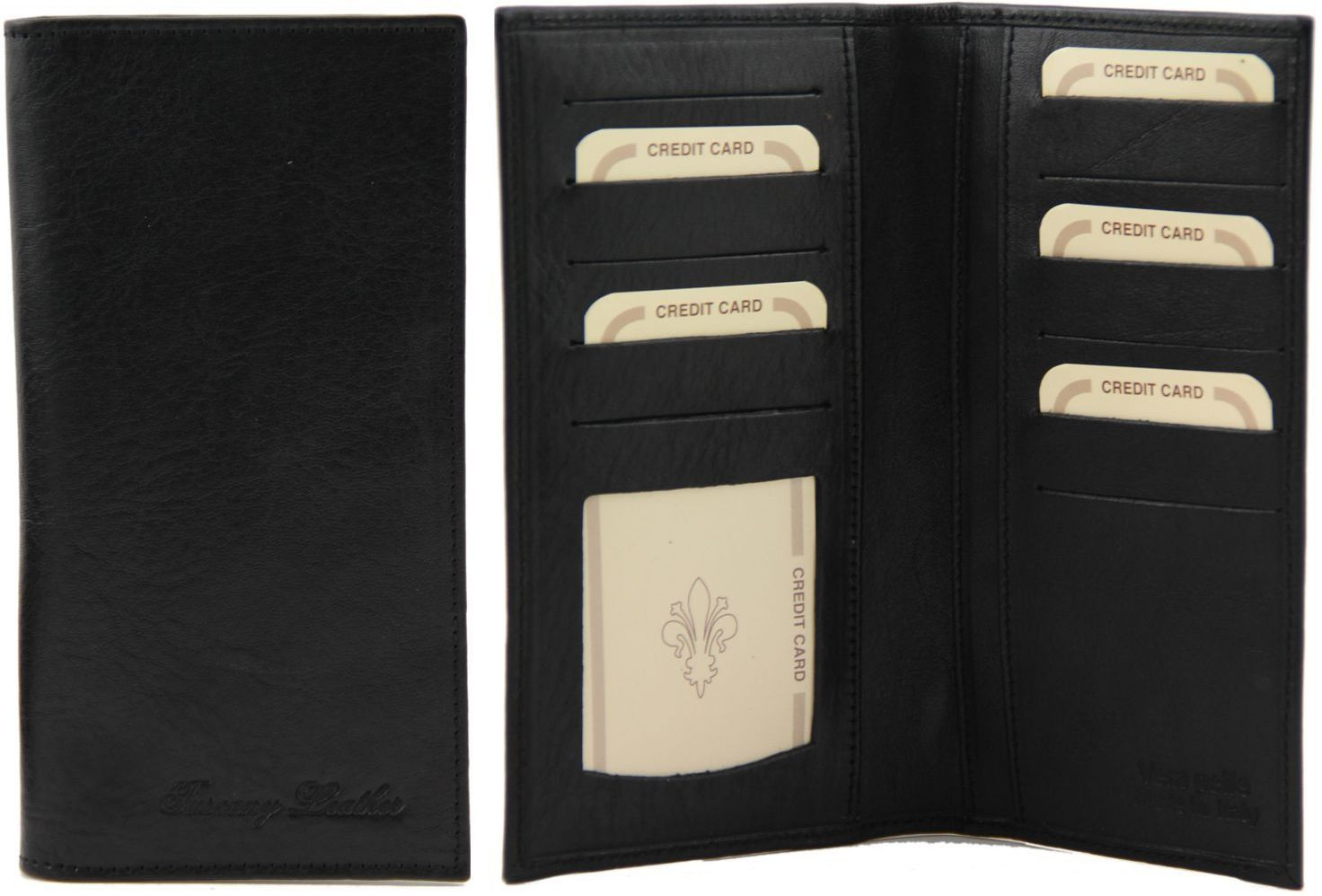 Δερμάτινο Πορτοφόλι / Θήκη TL140784 Μαύρο Tuscany Leather