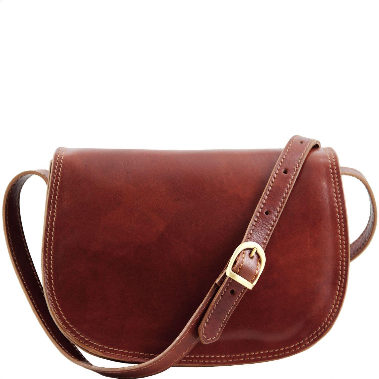 Γυναικεία Τσάντα Δερμάτινη Isabella Καφέ Tuscany Leather