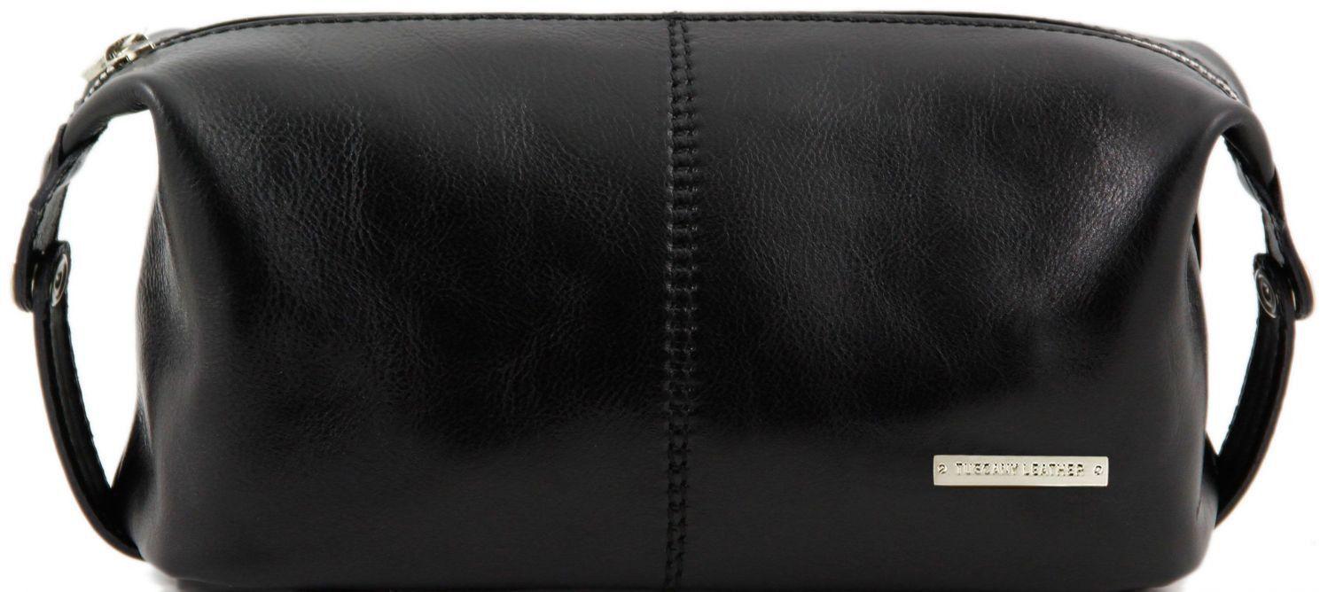 Θήκη – Τσαντάκι Καλλυντικών Δερμάτινο Roxy Μαύρο Tuscany Leather