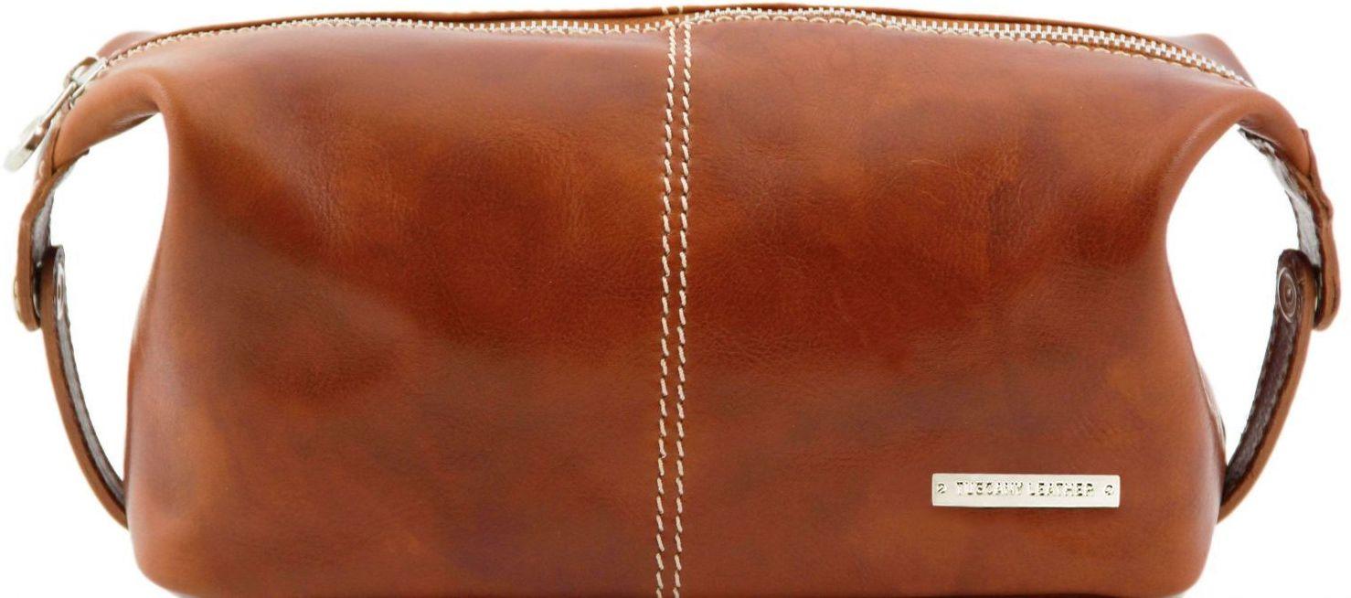 Θήκη – Τσαντάκι Καλλυντικών Δερμάτινο Roxy Μελί Tuscany Leather