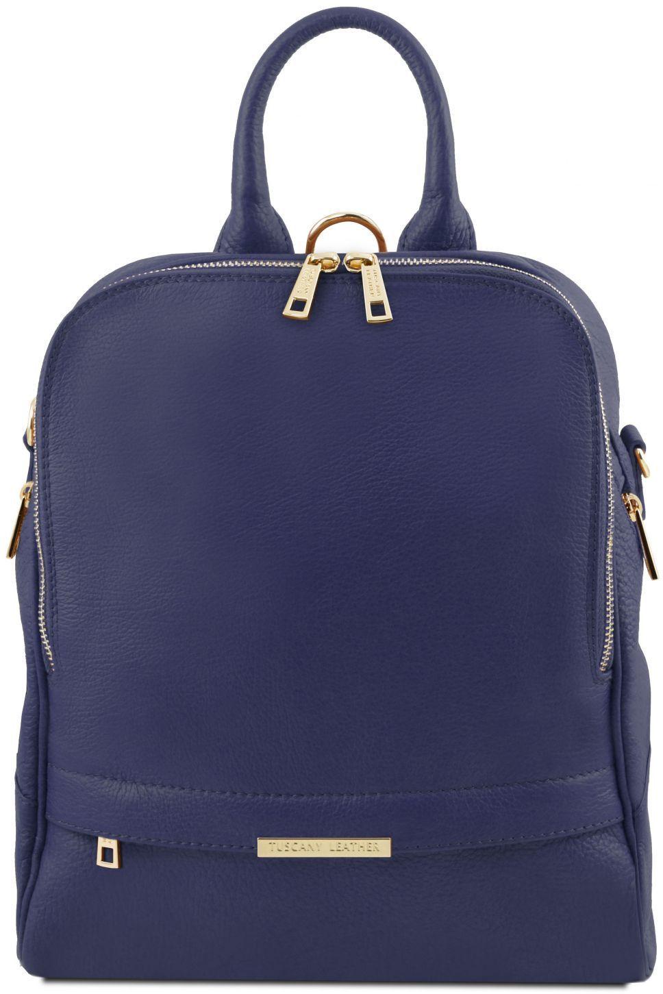 Γυναικεία Τσάντα Πλάτης Δερμάτινη TL141376 Μπλε σκούρο Tuscany Leather γυναίκα   τσάντες πλάτης