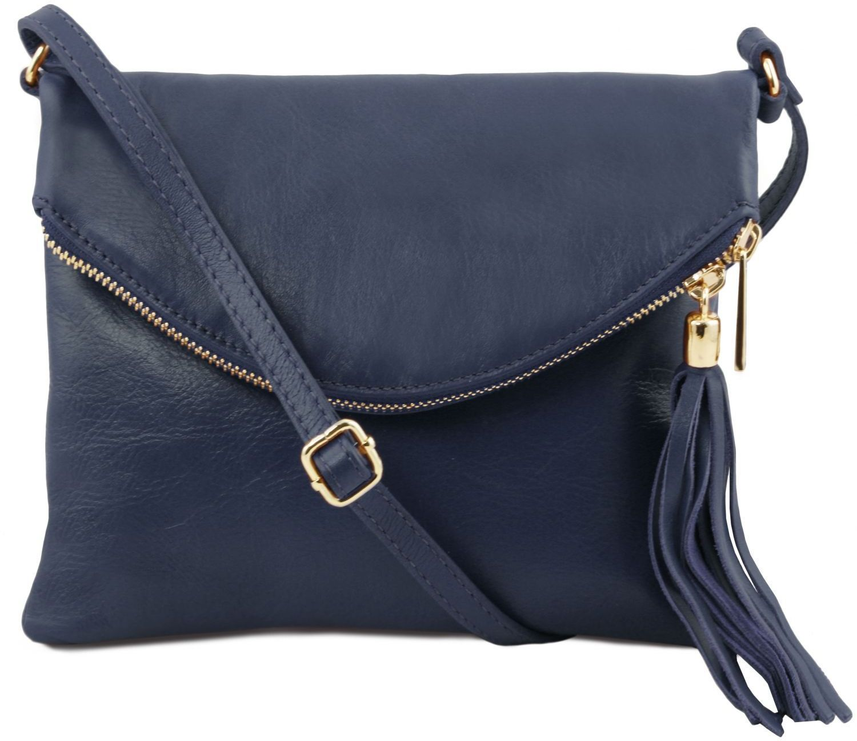a59ee11427 Γυναικείο Τσαντάκι Δερμάτινο TL Young Bag TL141153 Μπλε σκούρο Tuscany  Leather