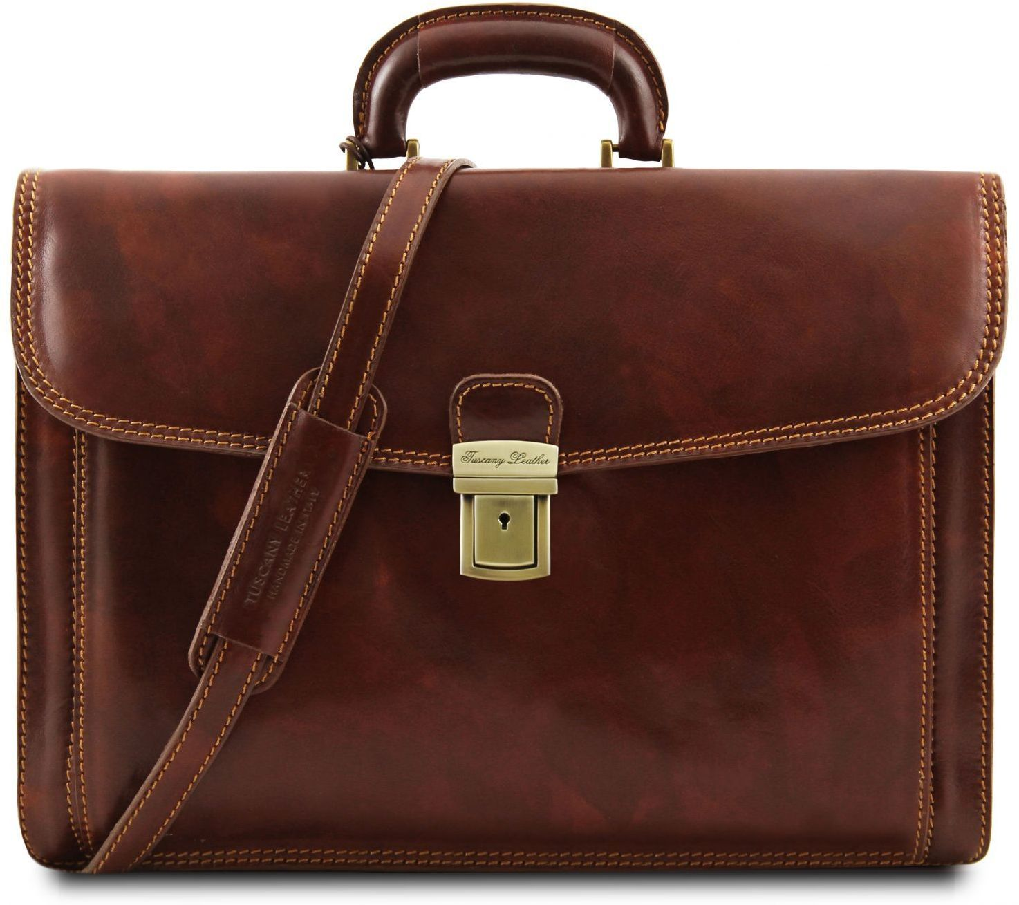 5fd81a66ad Επαγγελματική Τσάντα Δερμάτινη Napoli Καφέ Tuscany Leather