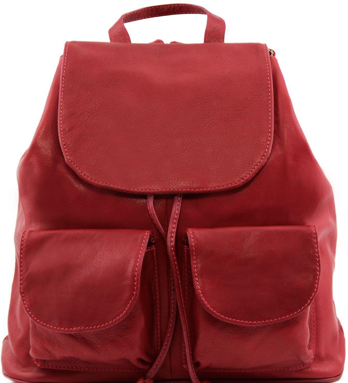 Γυναικεία Τσάντα Δερμάτινη Seoul L Κόκκινο Tuscany Leather γυναίκα   τσάντες πλάτης