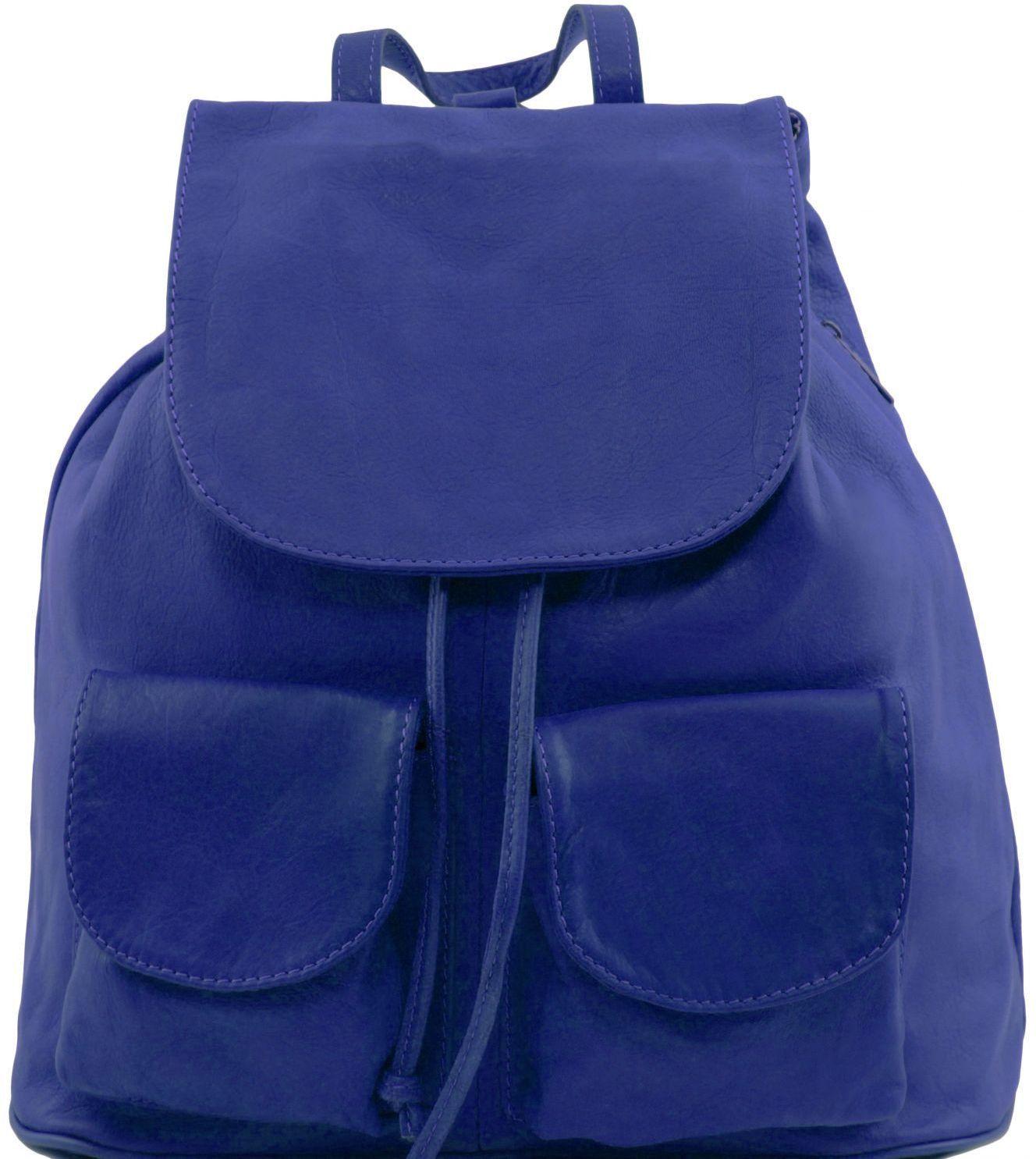 Γυναικεία Τσάντα Δερμάτινη Seoul S Μπλε Tuscany Leather γυναίκα   τσάντες πλάτης