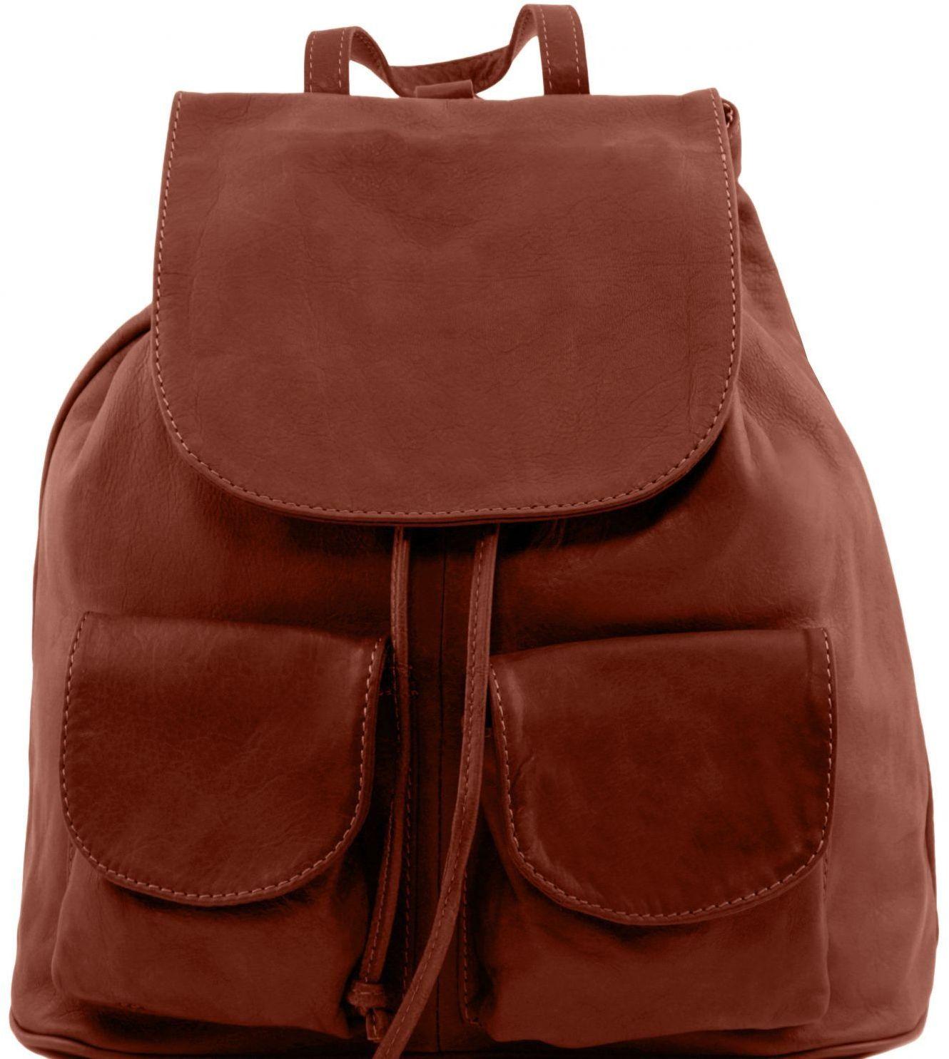 Γυναικεία Τσάντα Δερμάτινη Seoul S Καφέ Tuscany Leather γυναίκα   τσάντες πλάτης