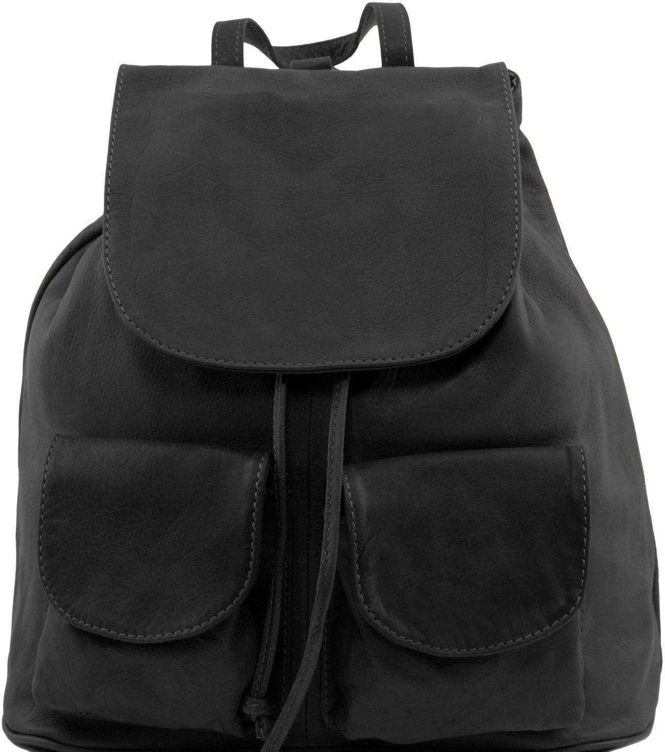 Γυναικεία Τσάντα Δερμάτινη Seoul S Μαύρο Tuscany Leather γυναίκα   τσάντες πλάτης
