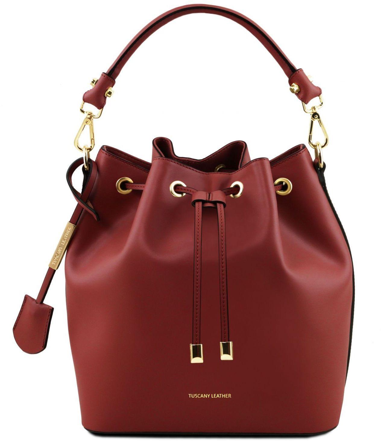 514c6bd60d Γυναικεία Τσάντα Δερμάτινη Vittoria Κόκκινο Tuscany Leather
