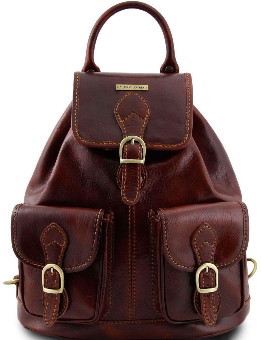 7bffc484e3 Τσάντα Πλάτης Δερμάτινη Tokyo Καφέ Tuscany Leather