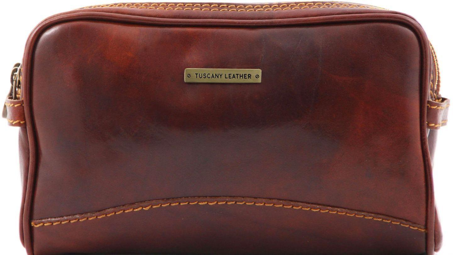 Θήκη – Τσαντάκι Καλλυντικών Δερμάτινο Igor Καφέ Tuscany Leather