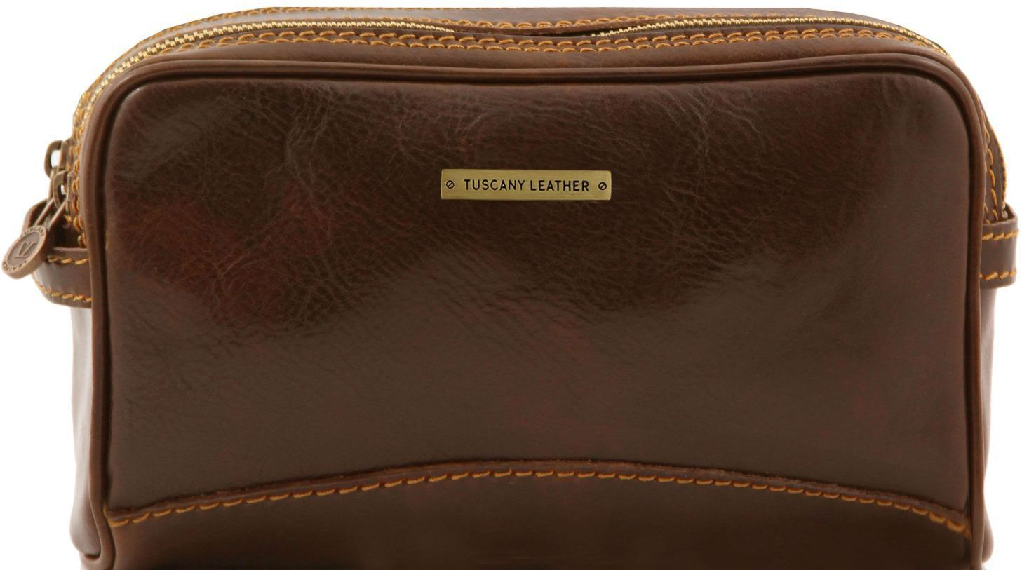 Θήκη – Τσαντάκι Καλλυντικών Δερμάτινο Igor Καφέ σκούρο Tuscany Leather