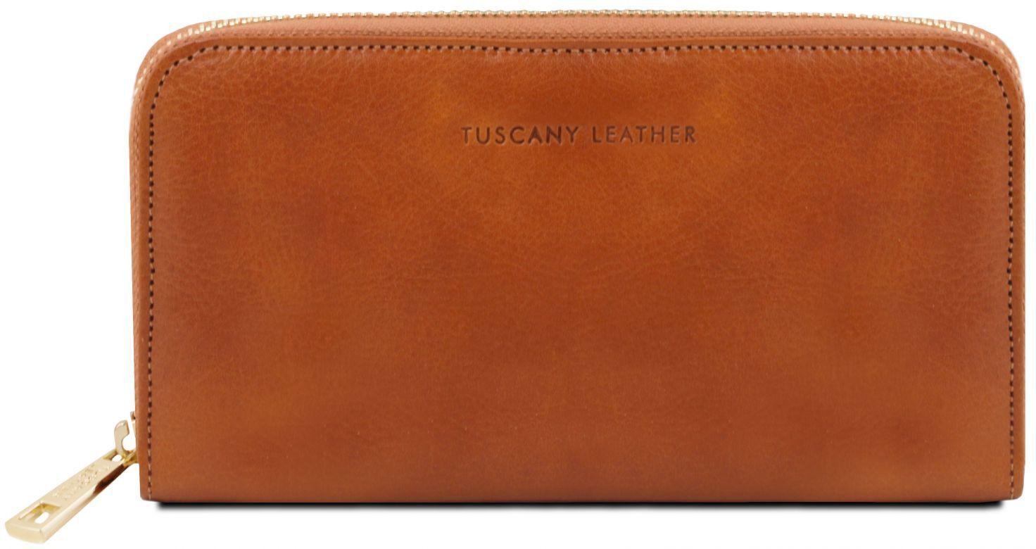 118fb16929 Γυναικείο Πορτοφόλι Δερμάτινο TL141206 Μελί Tuscany Leather