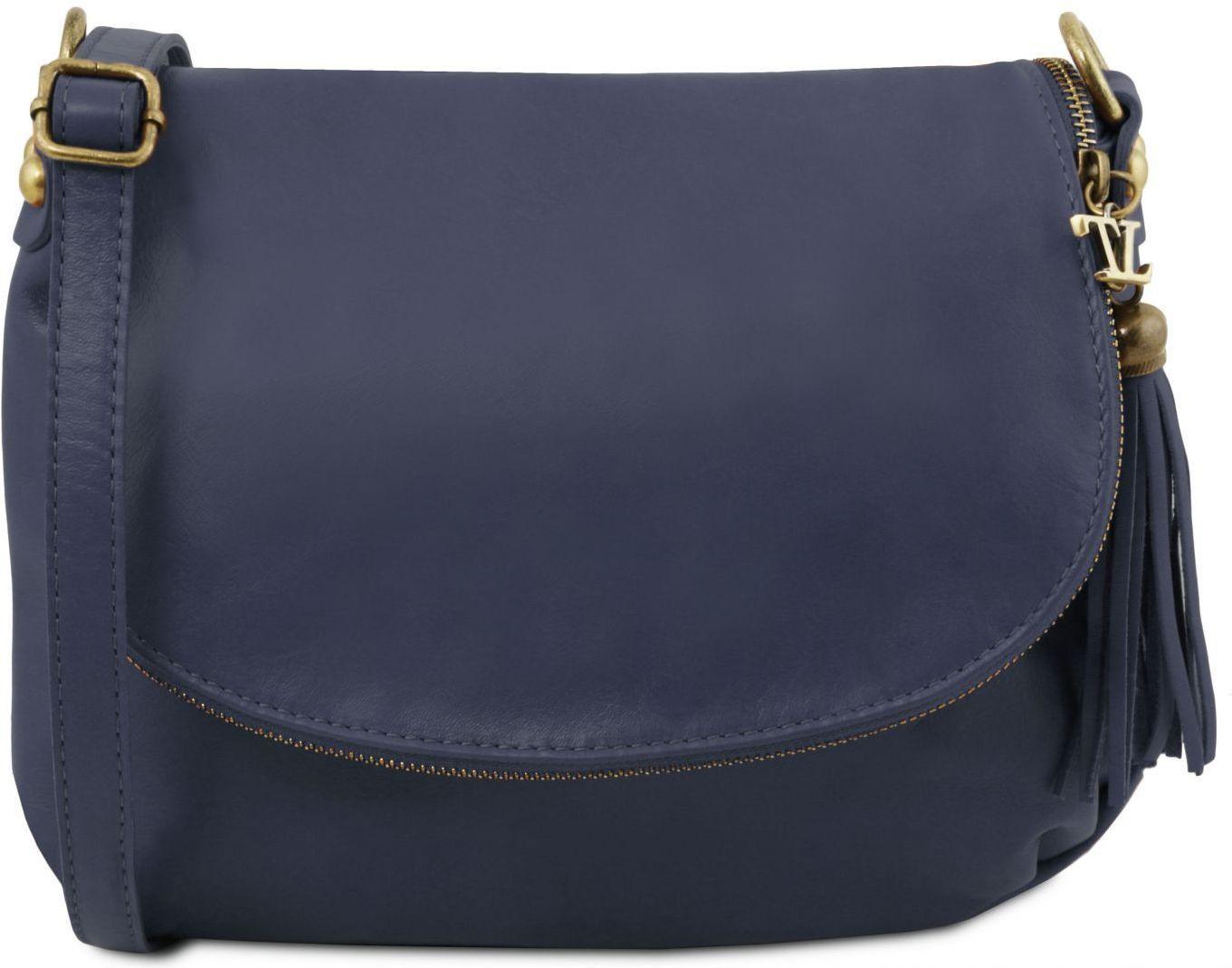 e21cb3255f Γυναικεία Τσάντα Δερμάτινη TL141223 Μπλε σκούρο Tuscany Leather