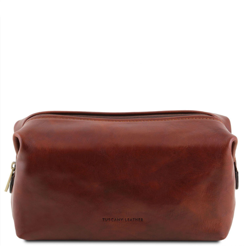 Θήκη – Τσαντάκι Καλλυντικών Δερμάτινο Smarty S Καφέ Tuscany Leather