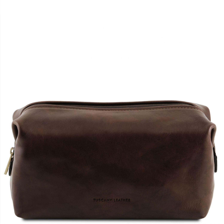 Θήκη – Τσαντάκι Καλλυντικών Δερμάτινο Smarty S Καφέ σκούρο Tuscany Leather