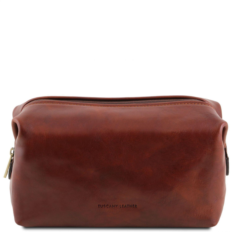 Θήκη – Τσαντάκι Καλλυντικών Δερμάτινο Smarty L Καφέ Tuscany Leather