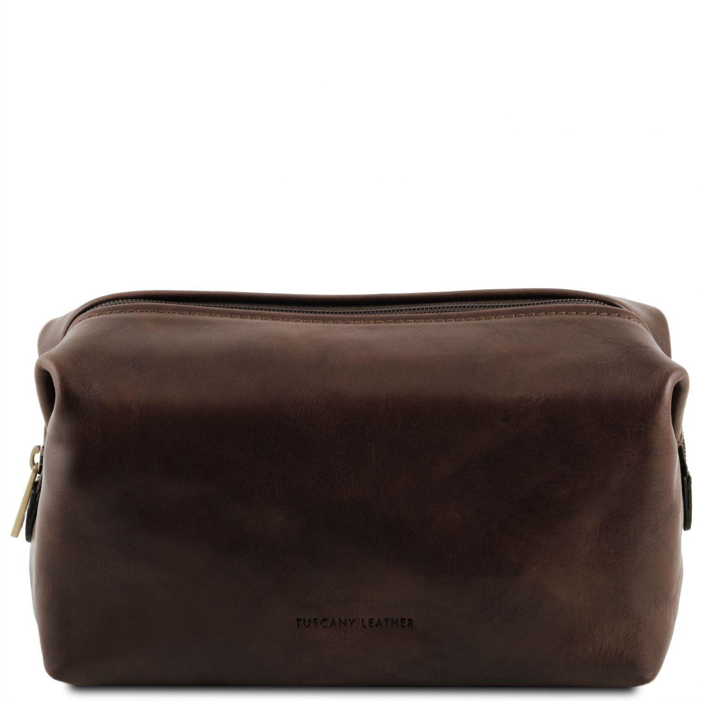 Θήκη – Τσαντάκι Καλλυντικών Δερμάτινο Smarty L Καφέ σκούρο Tuscany Leather