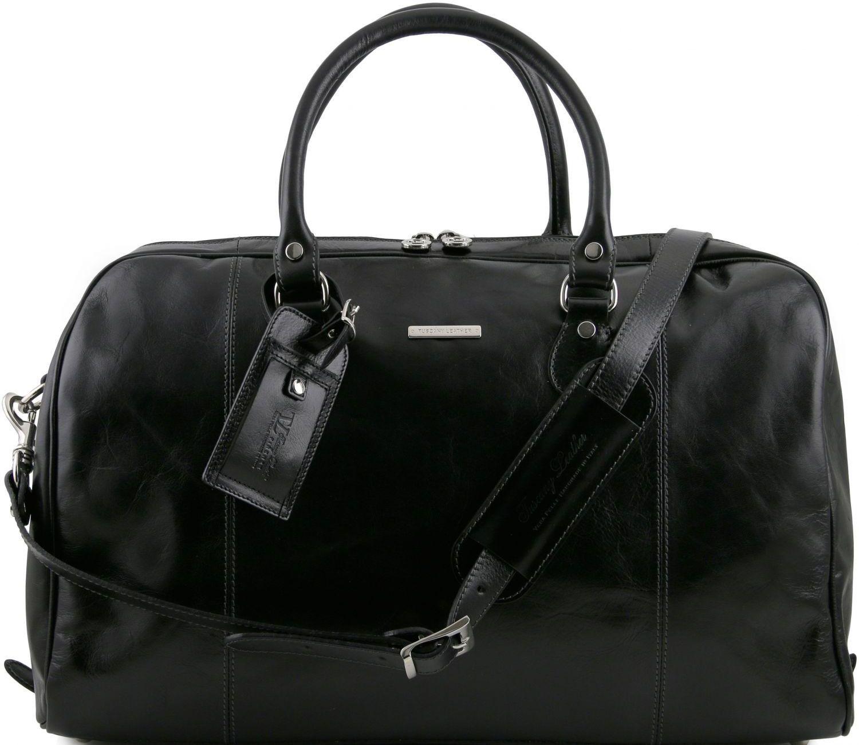 Σάκος Ταξιδίου Δερμάτινος TL Voyager Μαύρο Tuscany Leather