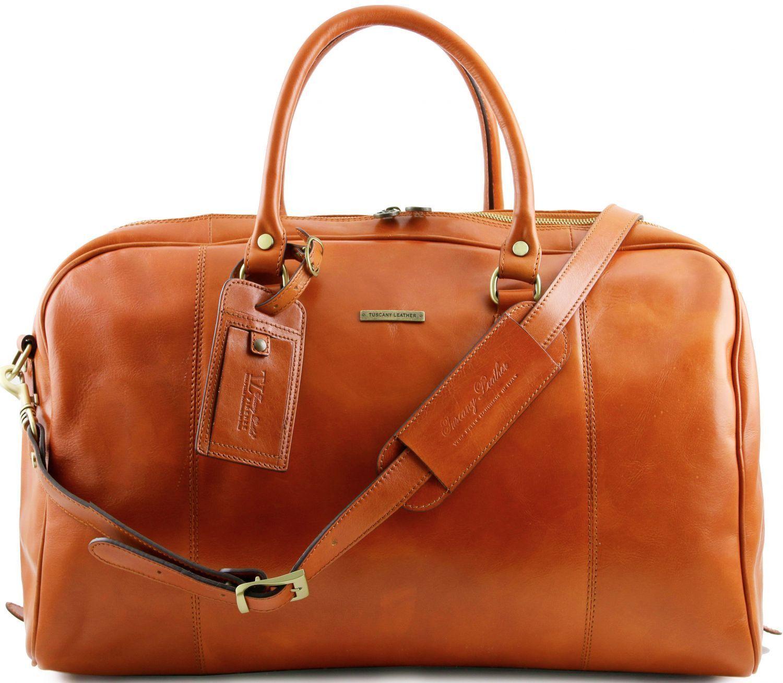 Σάκος Ταξιδίου Δερμάτινος TL Voyager Μελί Tuscany Leather