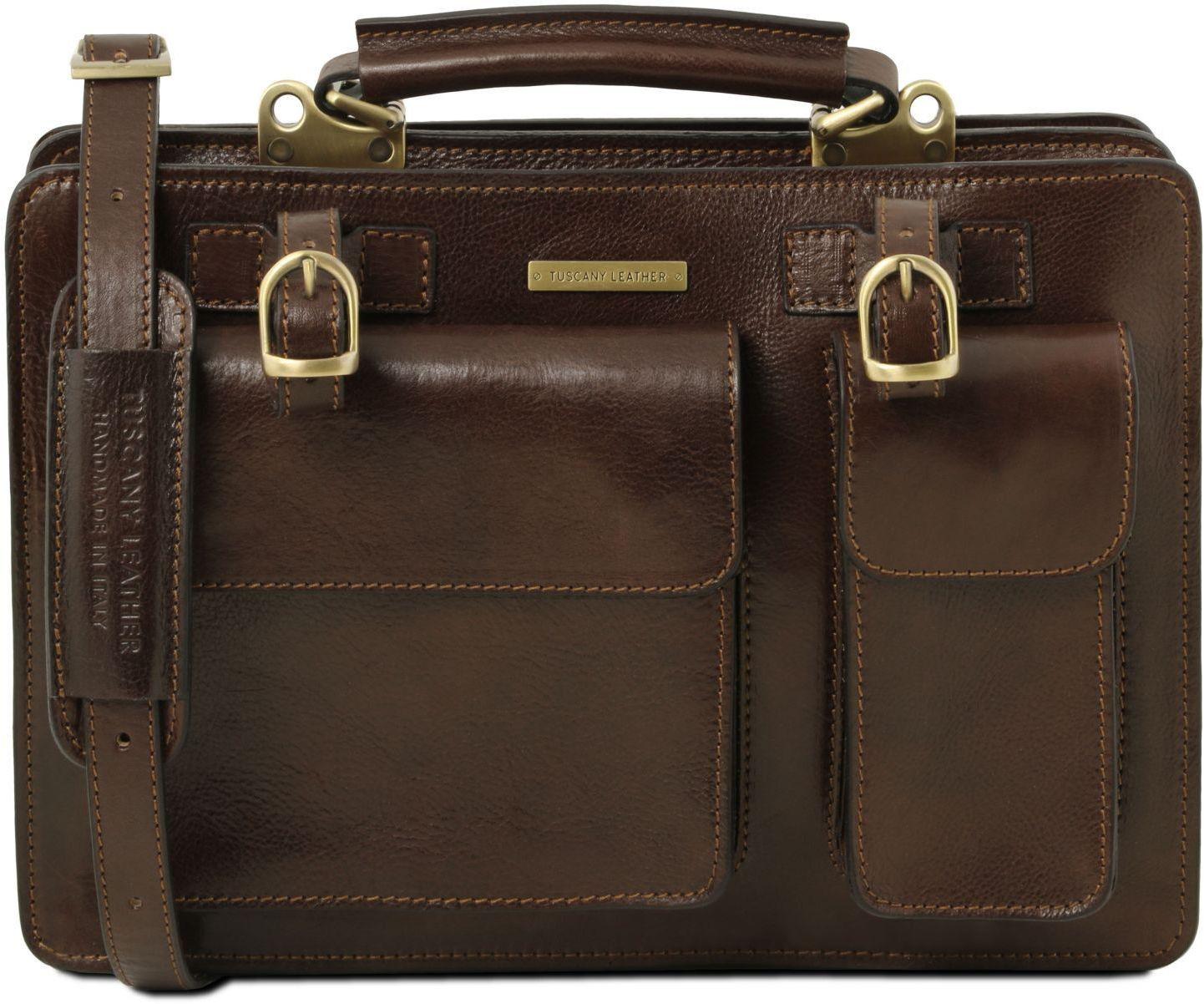 c7b964f82f Γυναικεία Επαγγελματική Τσάντα Δερμάτινη Tania Καφέ σκούρο Tuscany Leather  ...