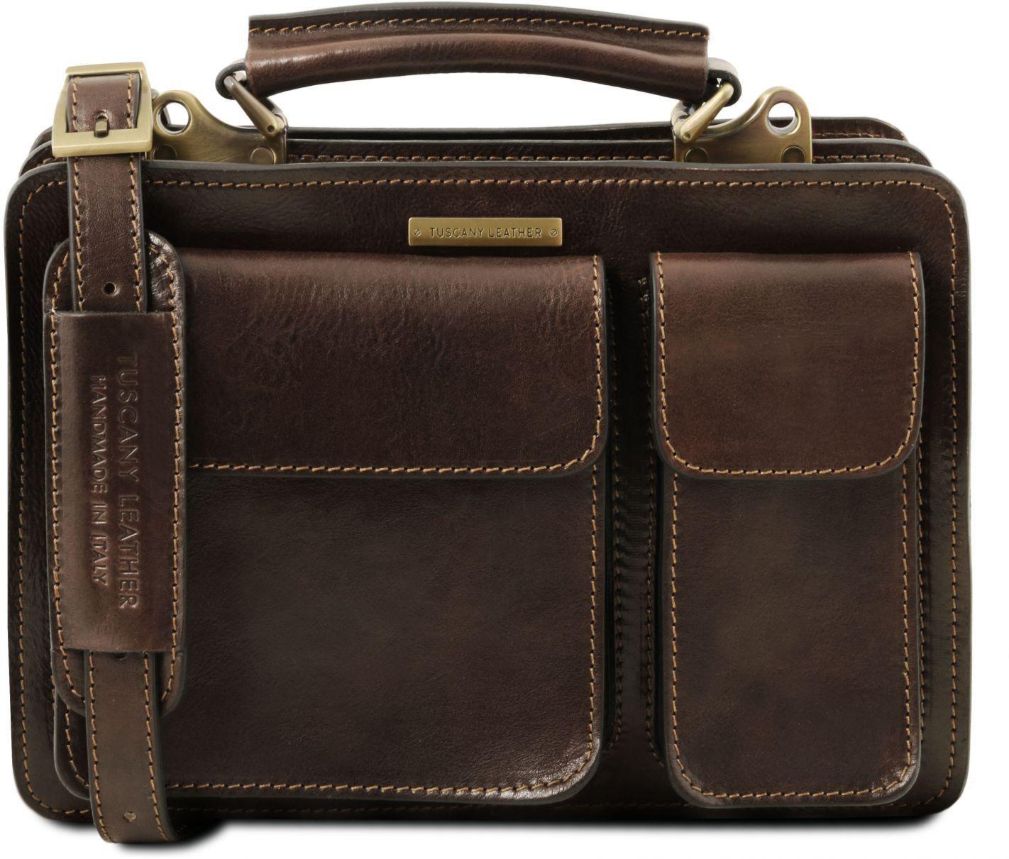 b267918773 Γυναικεία Επαγγελματική Τσάντα Δερμάτινη Tania S Καφέ σκούρο Tuscany  Leather ...