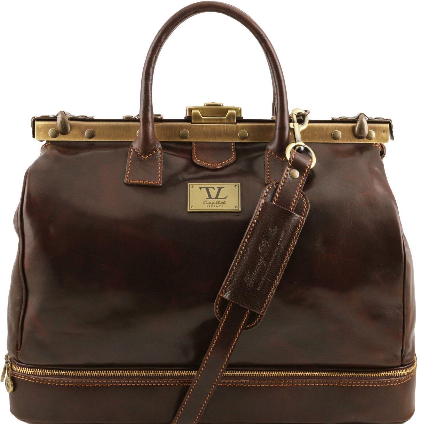 11bc07d93b Ιατρική Τσάντα   Βαλίτσα Δερμάτινη Barcelona Καφέ σκούρο Tuscany Leather