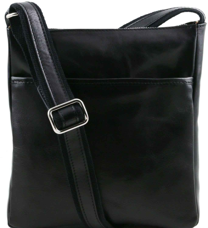 53cca159a1 Ανδρικό Τσαντάκι Δερμάτινο Jason Μαύρο Tuscany Leather