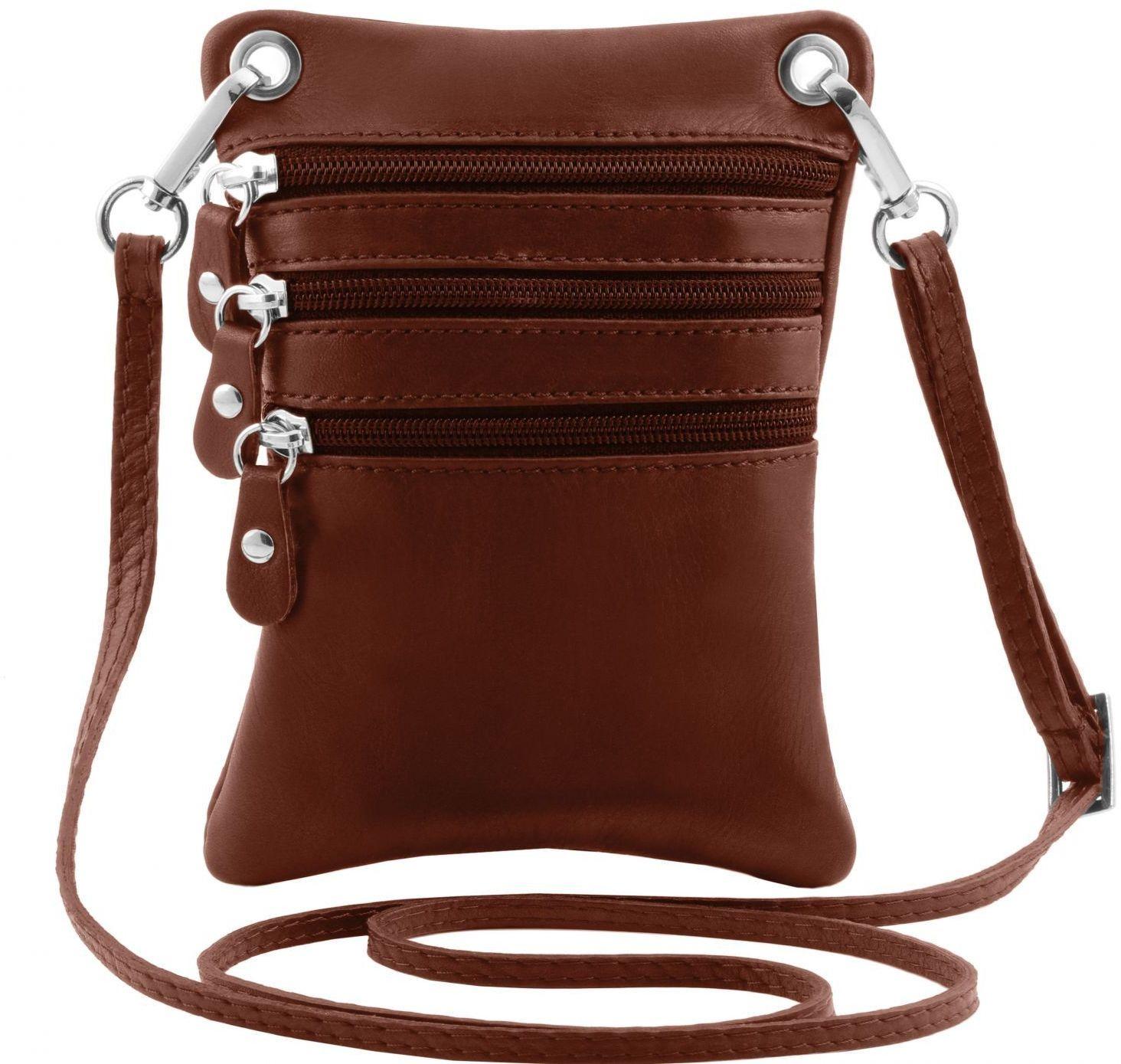 Γυναικείο Τσαντάκι Δερμάτινο TL141368 Καφέ Tuscany Leather
