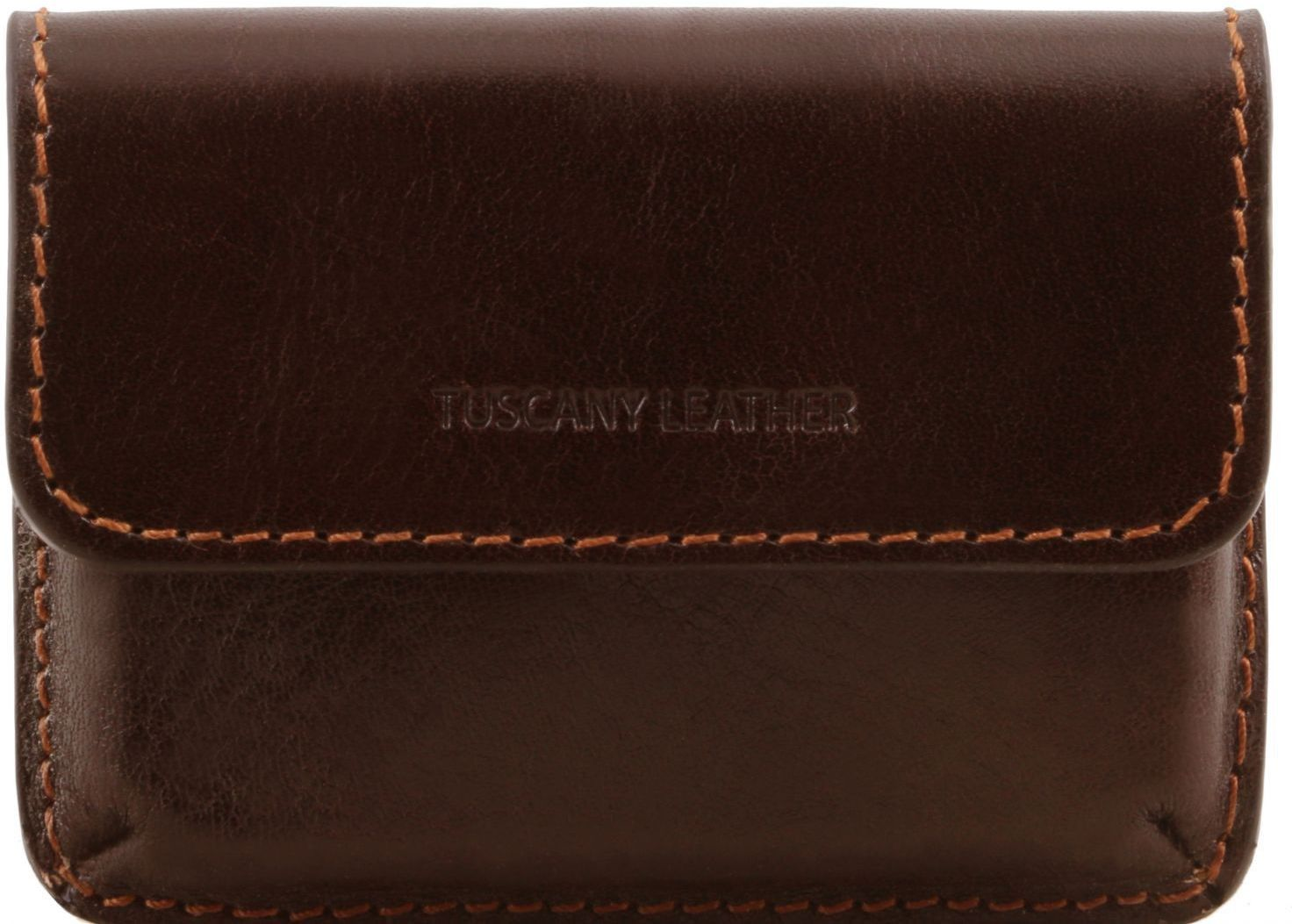 c83051d799 Δερμάτινη θήκη για Επαγγελματικές Κάρτες TL141378 Καφέ σκούρο Tuscany  Leather