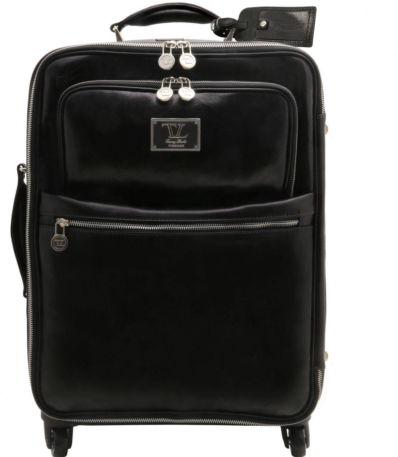 0ba4a41ebc Bagz Βαλίτσα Δερμάτινη με ροδάκια (Trolley) TL141390 (35.5 x 46 x 21) Μαύρο